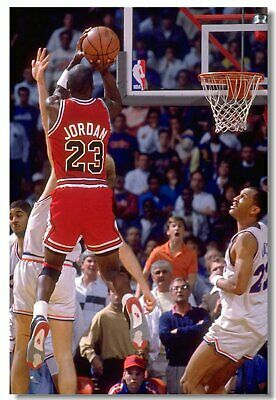 Poster Michael Jordan MJ 23 MVP Last Shot Utah Basketball Stars Cloth Print 528