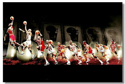 Poster Michael Jordan MJ 23 MVP Last Shot Utah Basketball Stars Cloth Print 504