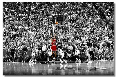 Poster Michael Jordan MJ 23 MVP Last Shot Utah Basketball Stars Cloth Print 505
