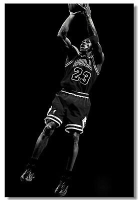 Poster Michael Jordan MJ 23 MVP Last Shot Utah Basketball Stars Cloth Print 510