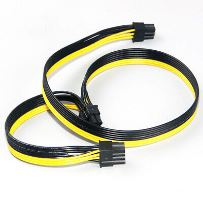 6 Pin Male to DUAL 6+2 8 Pin Male 6Pin 8Pin Power VGA Cable Graphics Video Card