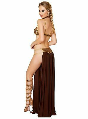 Sexy Star Wars Women Princess Leia Cosplay Bra Top Dress Bikini Slave Costume