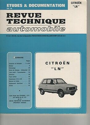 Revue Technique Automobile Rta Citroën Ln 1977  E.o.