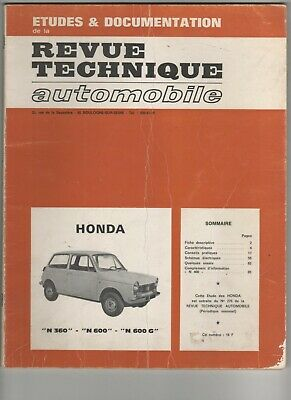 Revue Technique Automobile Rta Honda N 360 N 600 N 600 G 1969 E.o.