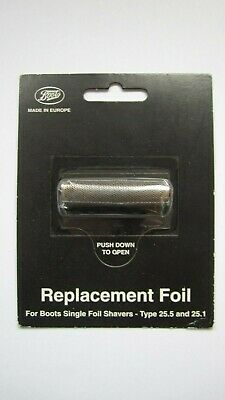 Boots Replacement Shaver Foil Type 25.5 & 25.1 New Freepost