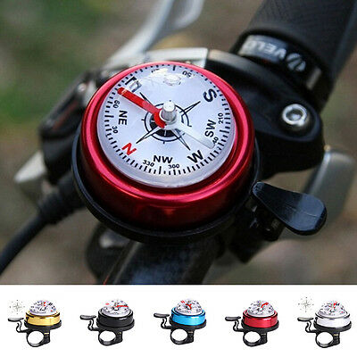 Bike Bicycle Invisible Bell Aluminum Loud Sound Compass Handlebar Safety Horn ME