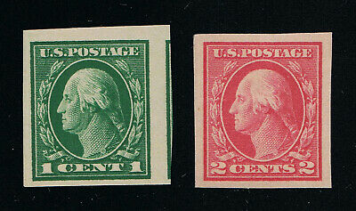 Genuine Scott #481 And #482 Mint Og Nh Lh Imperforates Unwatermarked #7241