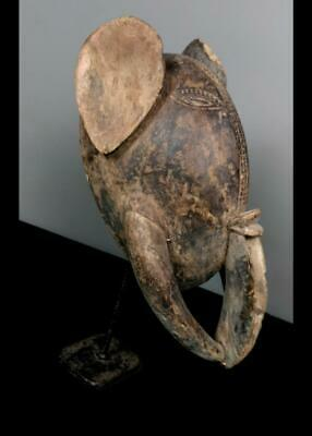 Old  Tribal Unusual Bamaki Elephant  Mask  -- Cameroon BN 42