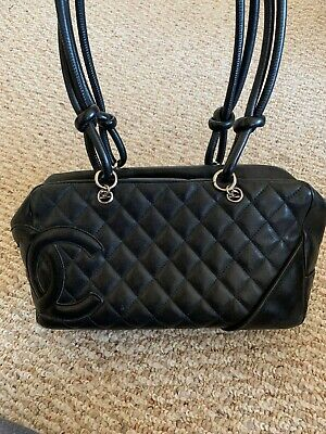 92d7ffff5f24 CHANEL BOWLER BAG Black Leather - $999.95 | PicClick