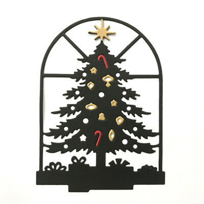 Christmas tree window Metal Cutting Dies For DIY Scrapbooking Card Paper Albu Ih