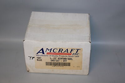 "Amcraft 1087 Blue 1-1/2"" Kerfing Tool - End Cut-Off Duct Board Tool"