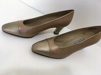 af624b293d Etienne Aigner Women's Pumps Leather Fabric Upper US Size 9 M Made In Spain