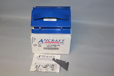"Amcraft 1087 Blue 1-1/2"" Kerfing Tool - End Cut-Off Duct Board Tool #2"