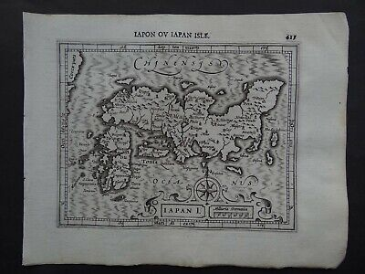 1608 HONDIUS  Mercator Atlas map  JAPAN - IAPON ou IAPAN ISLE - Japon Asia Asie