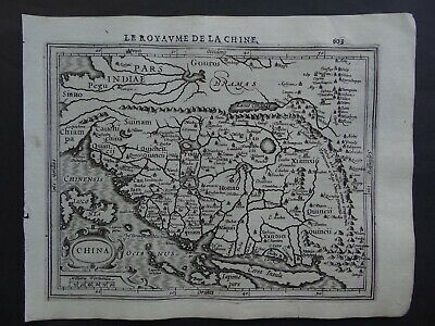 1608 HONDIUS  Mercator Atlas map  CHINA - Le Royaume de la Chine - Corea Island