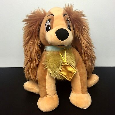 Disney Store Plush Lady from Lady and The Tramp Dog Soft Stuffed Animal Toy
