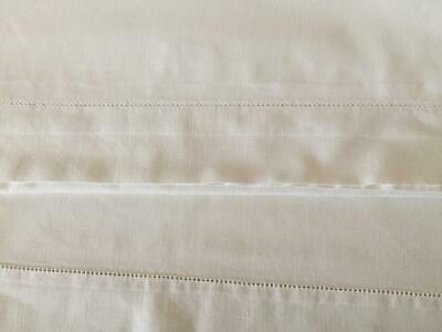 Two Vintage Cotton Oxford Style Pillow Cases