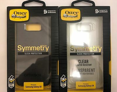 Otterbox Symmetry Series Case Cover for Samsung Galaxy S8 - Black OR Clear