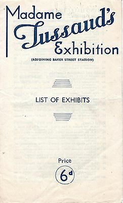 Guide Madame Tussauds Exhibition 1948