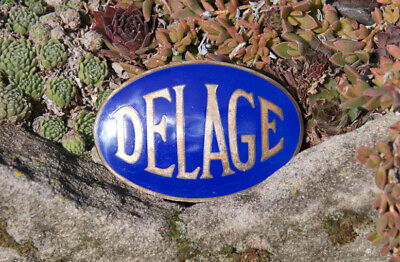 Very Nice Vintage Enamel Automobile Car Emblem # Delage Paris France