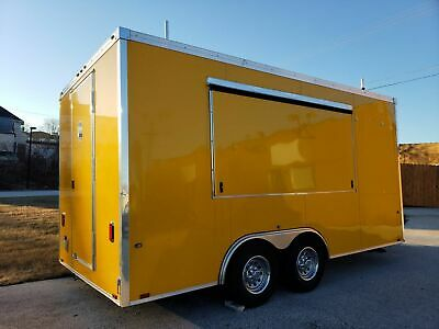 2018 - 8.6' x 16' Food Concession Trailer for Sale in Wisconsin!!!
