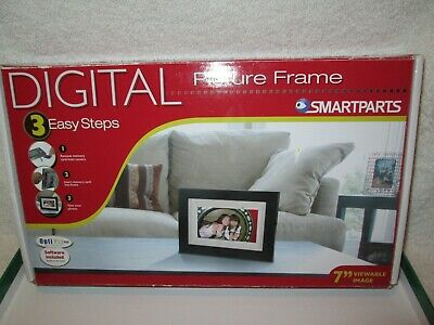 "Digital Picture Frame SMARTPARTS 7"" Viewable Image NEVER USED ORIGINAL BOX"