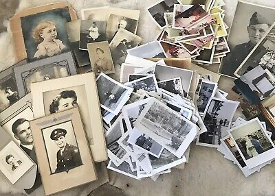 Huge Lot Vintage B&W Color Snapshots 375++ Photos Early 1900s-90s Unsearched
