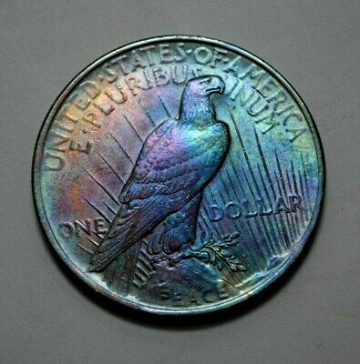 1923-P  Peace Dollar Silver $1.00 US Coin, Toned, NO RESERVE !!