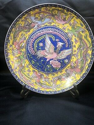 Very Fine Antique Clobbered 18thC Chinese Porcelain Plate
