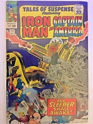 Tales Of Suspense 72 Iron Man And Cap. America Vol. 1 1965 Silver Age Vfn - 7.5