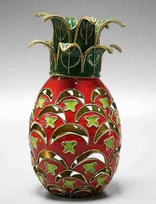 Collectable Old Cloisonne Hand Carve Delicate Noble Pineapple Shape Decor Statue