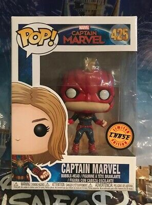 Funko Pop! Marvel Captain Marvel #425 Limited Edition CHASE Figurine New In Hand