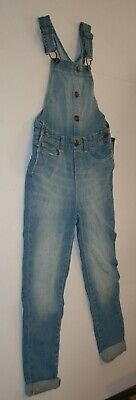 New OshKosh Girls Denim Blue Jean Overalls Classic Bibs 6 6X year pants Vestbak