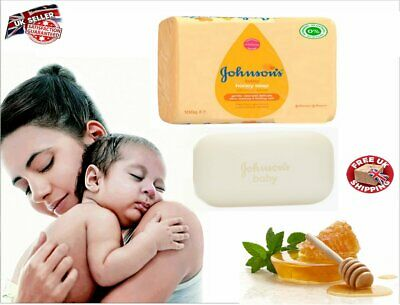 new Johnson's Baby Soap With Honey Extract Gently Cleanses Delicate Skin 100g