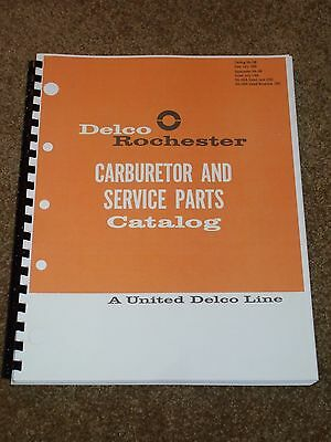 Delco Rochester Carburetor Parts Catalog 1940-1966,Part #s,MORE,1-2-4-Quadrajet
