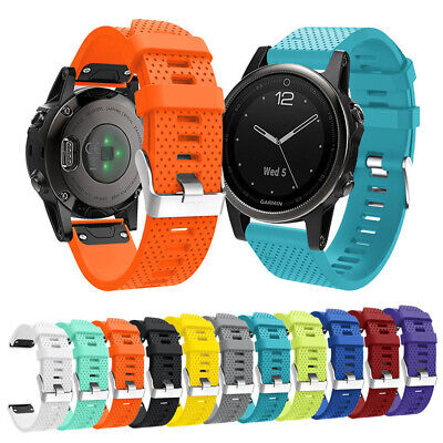 20mm Quick Release Soft Silicone Wrist Band Watchband Strap for Garmin Fenix 5S
