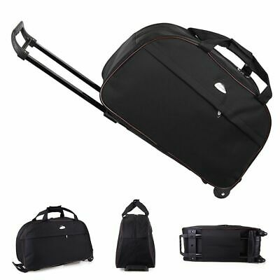"24"" Rolling Tote Duffle Bag Wheeled Carry On Luggage Waterproof Travel Suitcase"