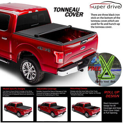 Fits 2005-2019 Nissan Frontier Lock Soft Roll Up Tonneau Cover 6ft Short Bed