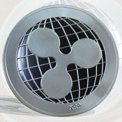 Silver Plated Ripple Coin XRP CRYPTO Commemorative Ripple XRP Collectors Coin