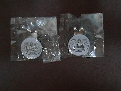 2x BROWN BROTHERS WINERY HAT CLIP MAGNETIC GOLF BALL MARKERS NEW & SEALED