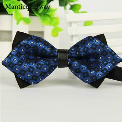 Mantieqingway Simple Men's Suit Bow Tie For Groom Wedding  Party Men Formal Wear