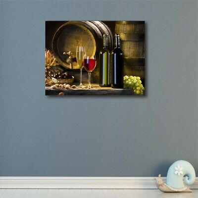 Red Wine Glass Grape HD Print Oil Wall Painting Canvas Picture Modern Home Decor