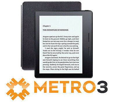 Kindle Oasis E-reader 8th w Leather Charging Cover 300ppi Wifi & 3G | A GRADE