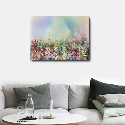 Abstract Flower Field HD Print Oil Wall Painting Canvas Art Modern Home Decor