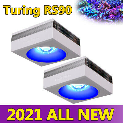 2PCS Aquarium Light Fixture Full Spectrum LED Reef Marine Lighting Dimmable