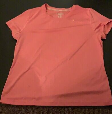 761a32388 Women's Champion Semi-fitted Pink Short Sleeve Exercise Shirt, ...