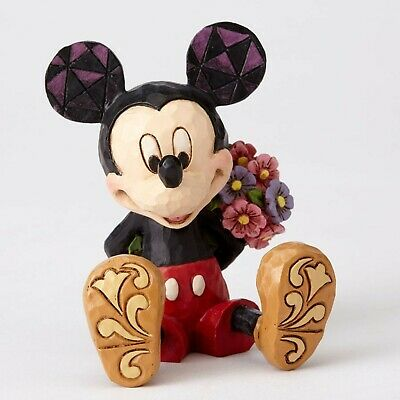 Disney Traditions Mickey Mouse with Flowers Jim Shore 4054284 Mini Size 7cm H