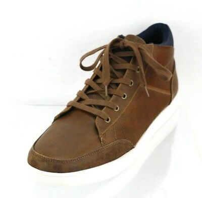 4992a7921  180 TED BAKER London Men s Alcaeus High Top Leather Sneakers Brown ...