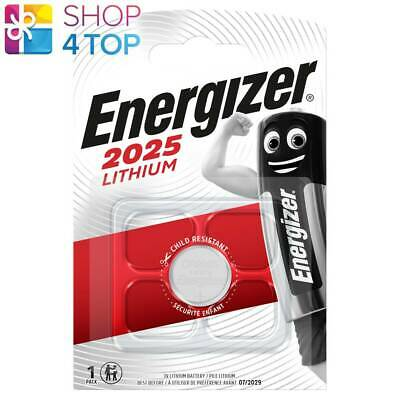 Energizer Cr2025 Lithium Battery Blister 3V Coin Cell Dl2025 Exp 2025 New