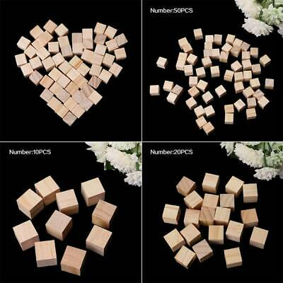 Square Wooden Beads Handmade Woodcrafts Natural Baby Toy Wood Cube Home Decor